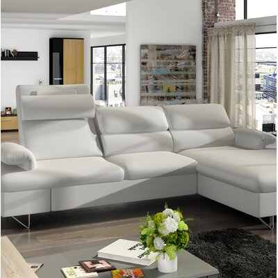 Klar Sleeper Sectional Upholstery: Blue, Orientation: Right Hand Facing