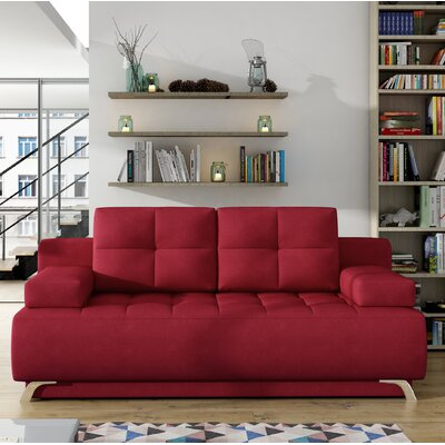 Klass Reclining Sleeper Sofa Upholstery: Red