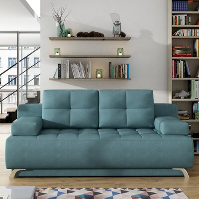 Klass Reclining Sleeper Sofa Upholstery: Blue