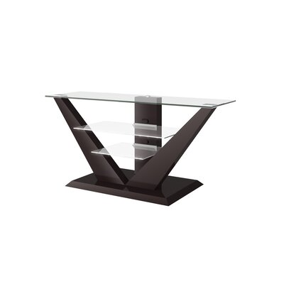 Maloy High Gloss 55.1 TV Stand Color: Brown