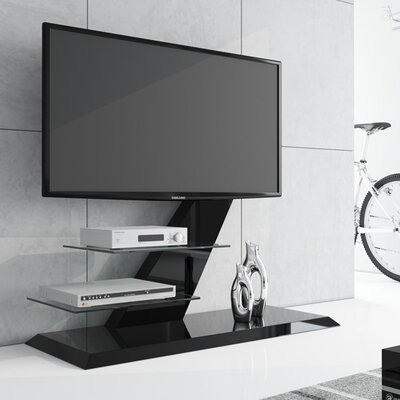 Malott High Gloss Modern 47.2 TV Stand Color: Black