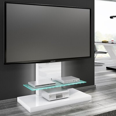 Fitz High Gloss Max 51.1 TV Stand Color: White