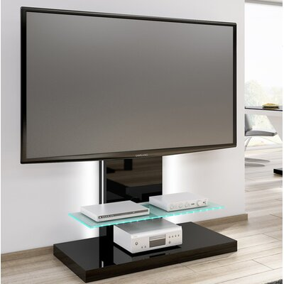 Fitz High Gloss Max 51.1 TV Stand Color: Black