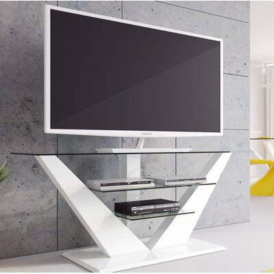 Maloy High Gloss 55.1 TV Stand Color: White