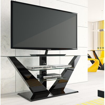 Maloy High Gloss 55.1 TV Stand Color: Black