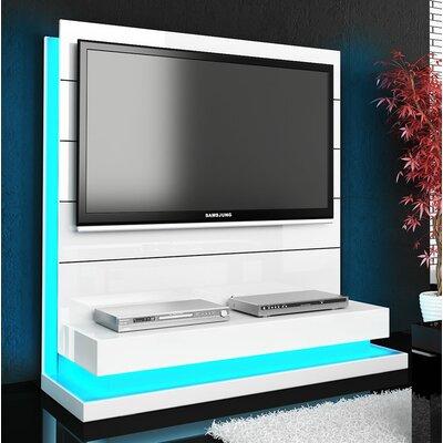 Lux 55.3 Entertainment Center Color: White