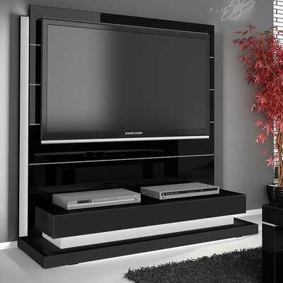 Lux 55.3 Entertainment Center Color: Black