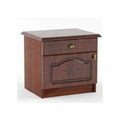 Melinda 1 Drawer Nightstand Color: Cherry