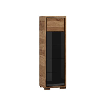Ardent 1 Door Display China Cabinet Color: Black
