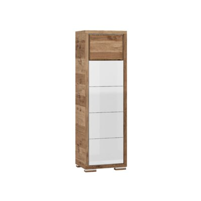Ardent 1 Door Display China Cabinet Color: White