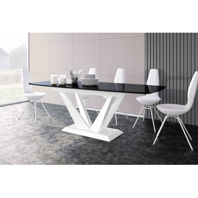 Beene Extendable Dining Table Top Color: Black