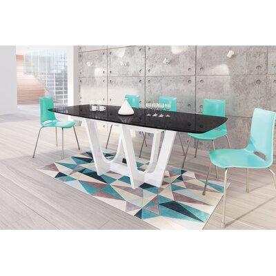 Beene Modern Extendable Dining Table Top Color: Black