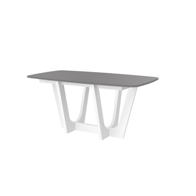 Beene Modern Extendable Dining Table Top Color: Gray