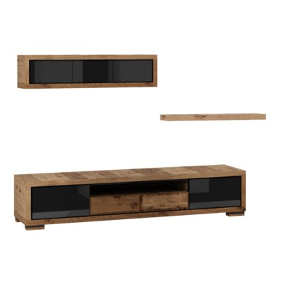 Ardent 3 Piece Entertainment Center Set Color: Black