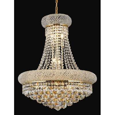 Izzie 12-Light Crystal Chandelier Finish: Gold