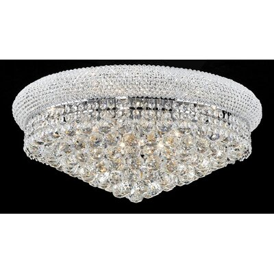 Cilla 11-Light Flush Mount Fixture Finish: Chrome