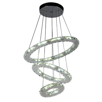 Weatherly 3-Light LED Crystal Pendant