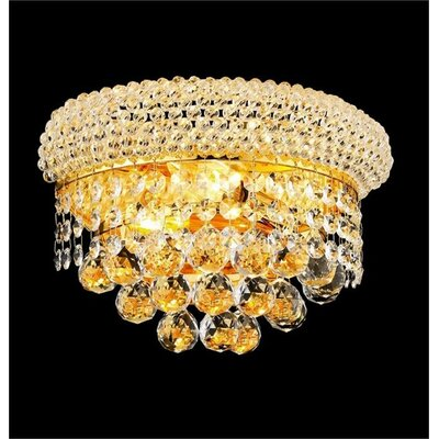 Janelle 2-Light Flush Mount Fixture Finish: Gold