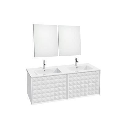 Jager 46.3 Double Bathroom Vanity Set Base Finish: White