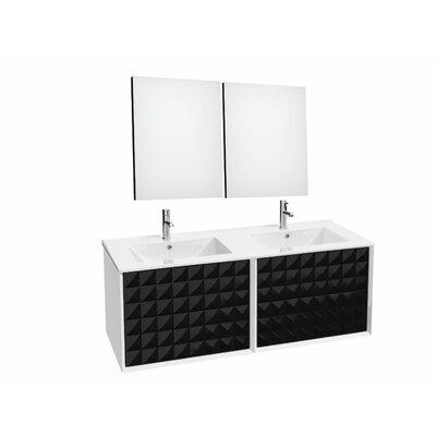 Jager 46.3 Double Bathroom Vanity Set Base Finish: Black
