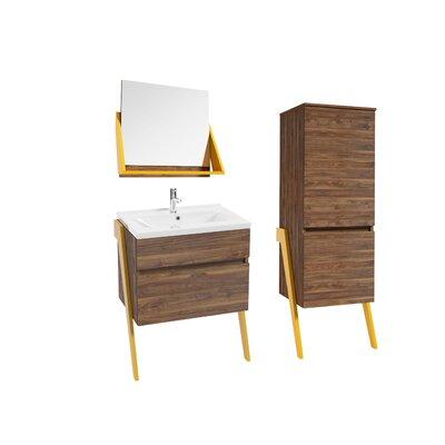 Caruso 52 Single Bathroom Vanity Set Base Finish: Yellow
