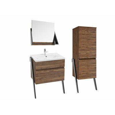 Caruso 52 Single Bathroom Vanity Set Base Finish: Black