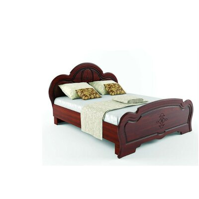 Melinda European Platform Bed with Mattress Color: Cherry