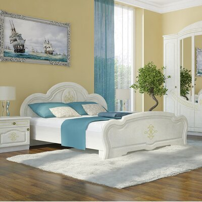 Melinda European Platform Bed with Mattress Color: Birch