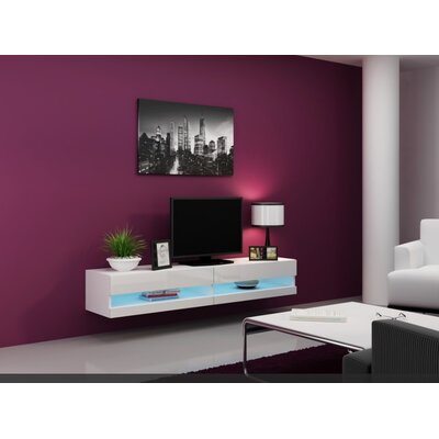 Hanshaw 60 TV Stand Color: White-White