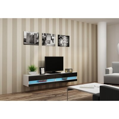 Hanshaw 70.9 TV Stand Color: White-Black