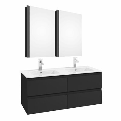 Middlebrook 47 Double Bathroom Set Color: Graphite