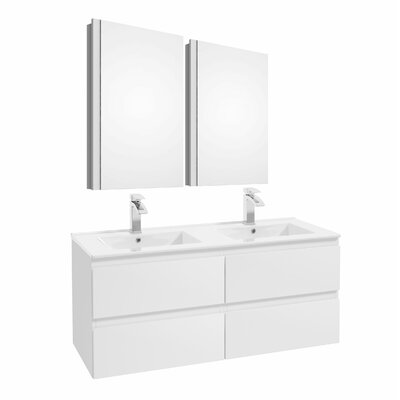 Middlebrook 47 Double Bathroom Set Color: White