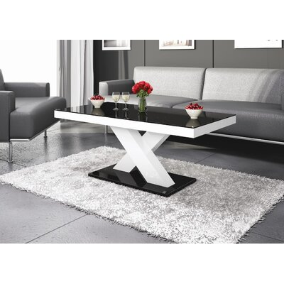 Collingswood Coffee Table Color: Black;White