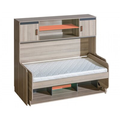Hunziker Wall Bed Color: Orange