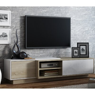 Dedrick 71 TV Stand Color: White Gloss /Sonoma Oak
