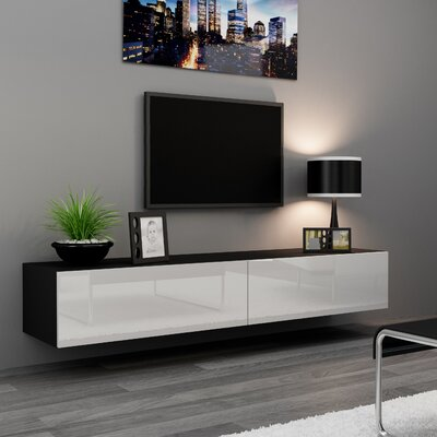 Birte 70.9 TV Stand Color: Black/White