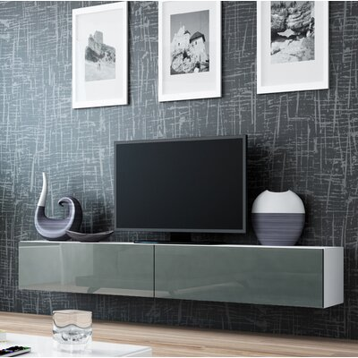 Birte 70.9 TV Stand Color: White/Gray