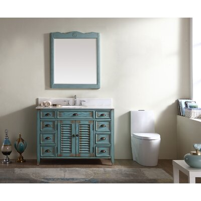 Foret 47 Single Bathroom Vanity Set Base Finish: Antique Blue