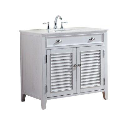 Foret 36 Single Bathroom Vanity Set Base Finish: White
