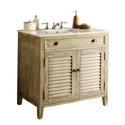 Foret 36 Single Bathroom Vanity Set Base Finish: Cream