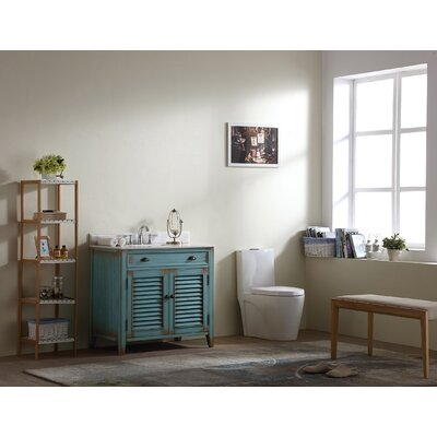 Foret 36 Single Bathroom Vanity Set Base Finish: Antique Blue