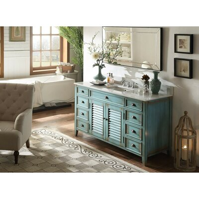 Foret 60 Single Bathroom Vanity Set Base Finish: Antique Blue