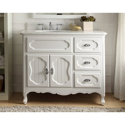 Jaelynn 42 Single Bathroom Vanity Set Base Finish: White