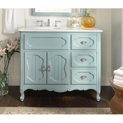 Jaelynn 42 Single Bathroom Vanity Set Base Finish: Light Blue