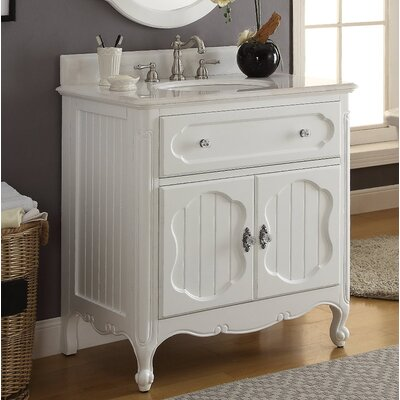 Jaelynn 34 Single Bathroom Vanity Set Finish: White