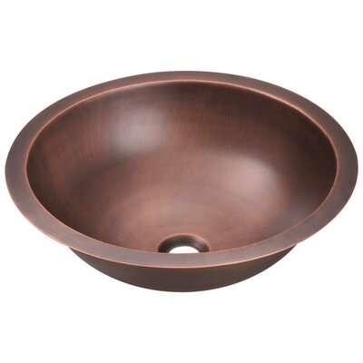 Dualmount Metal Circular Vessel Bathroom Sink