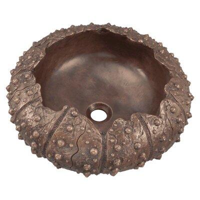 Sea Urchin Specialty Metal Circular Vessel Bathroom Sink