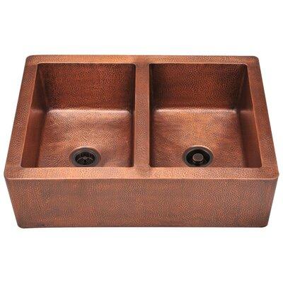 35 x 25 Double Basin Farmhouse/Apron Kitchen Sink