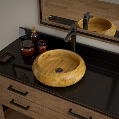 Circular Vessel Bathroom Sink with Faucet Faucet Finish: Antique Bronze