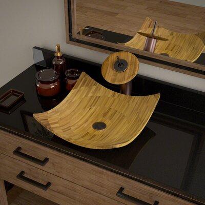 Square Vessel Bathroom Sink with Faucet Faucet Finish: Antique Bronze